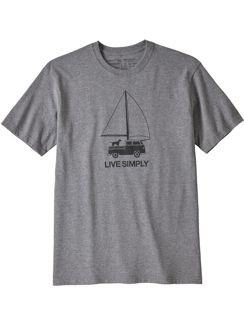 Patagonia M's Live Simply Wind Powered Responsibili Tee Gravel Heather